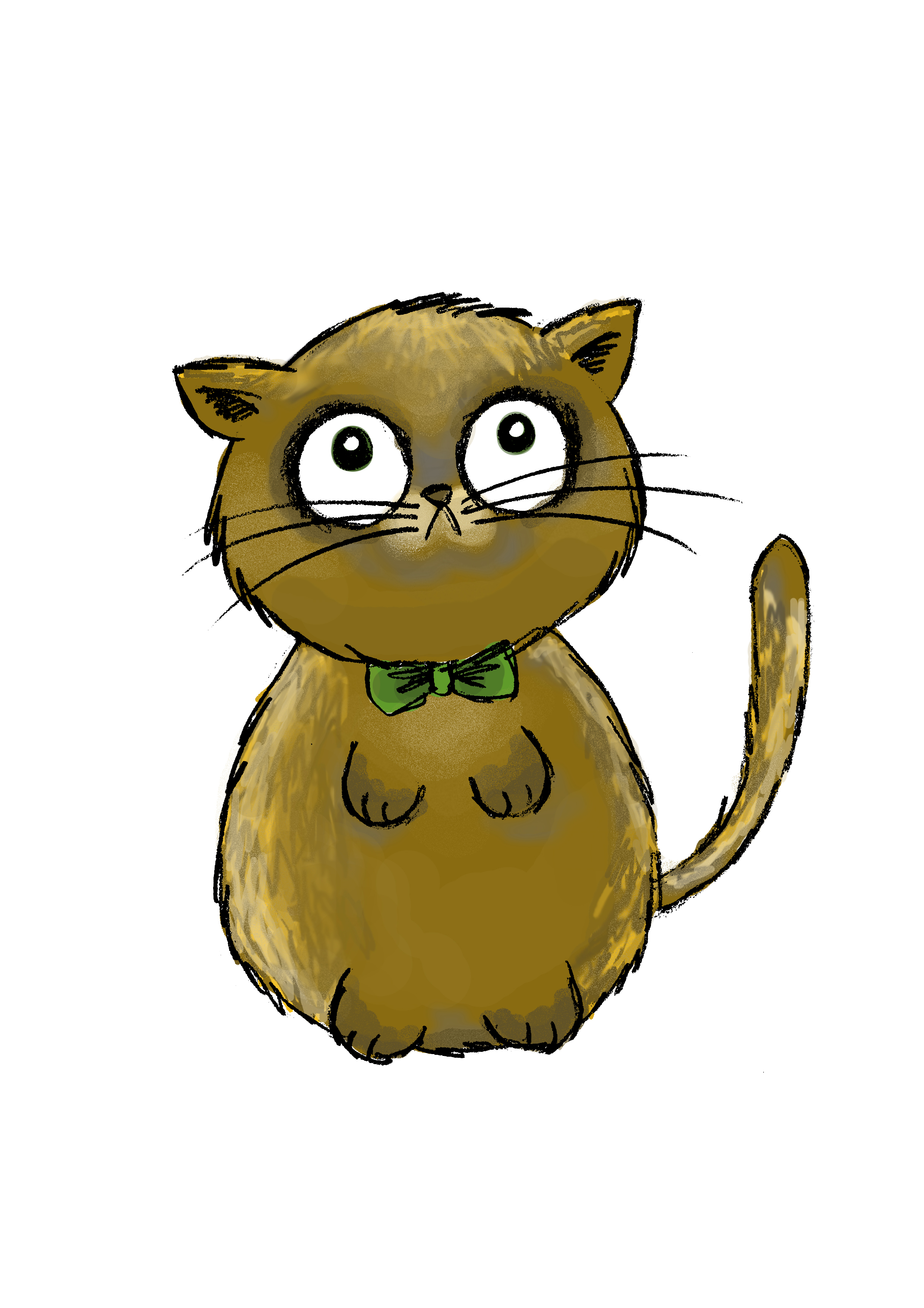 Kitten In A Bow Tie Green Bow Tie Kitty
